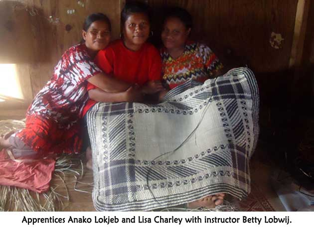 Anako Lokjeb and Lisa Charley with Betty Lobwij