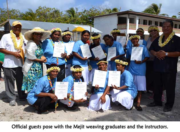 Mejit weaving graduates with officials